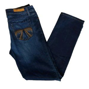 Seven Straight Leg Faded Thigh Jeans-Sz. 8